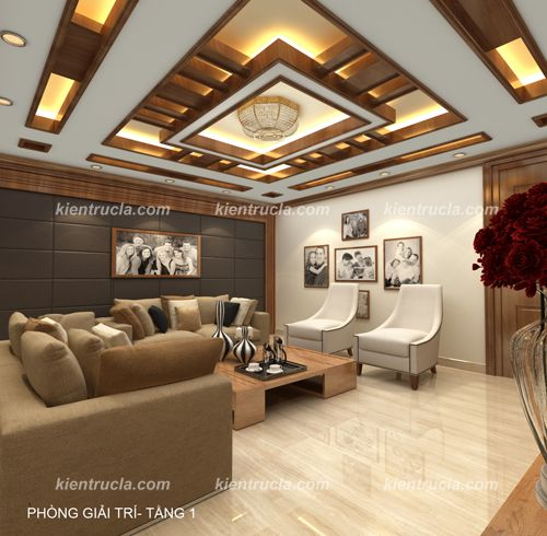 Tran Go Kinh Tim Với Google Ceiling Design Living Room False