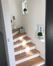 Treppenhaus makeover- Sanierung im 60 Jahre Flur. - Fräulein Emmama,  #Emmama #Escaliersrenovation #Flur #Fräulein #Jahre #Makeover #Sanierung #Treppenhaus