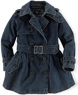 Ralph Lauren Toddler Girls' Denim Trucker Trench Coat  $155 Macy's