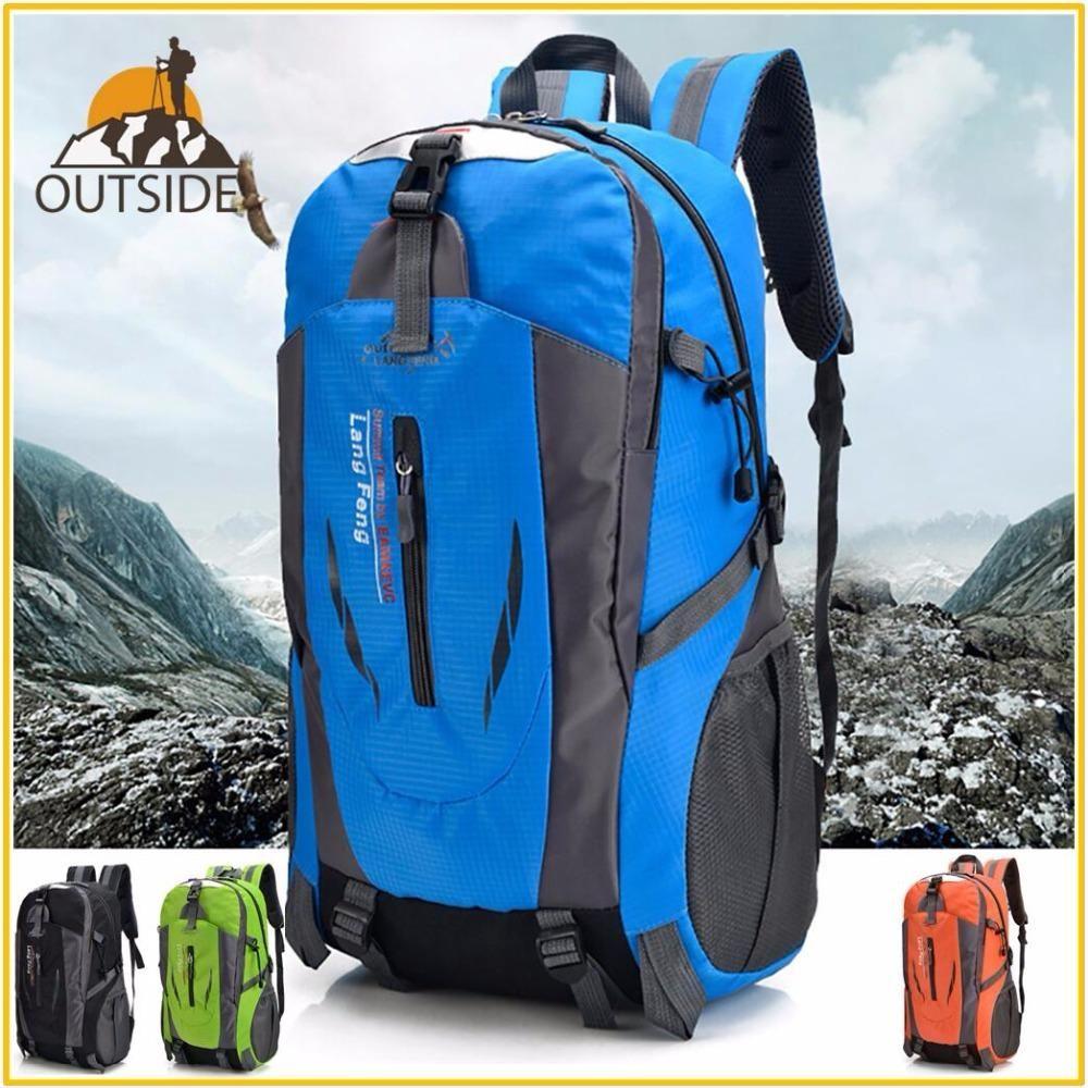 90cffa4bd9 40L Men Women Climbing Bag Outdoor Fishing Bags Waterproof Travel Trekking  Backpack Hiking Camping Rucksack Tactical