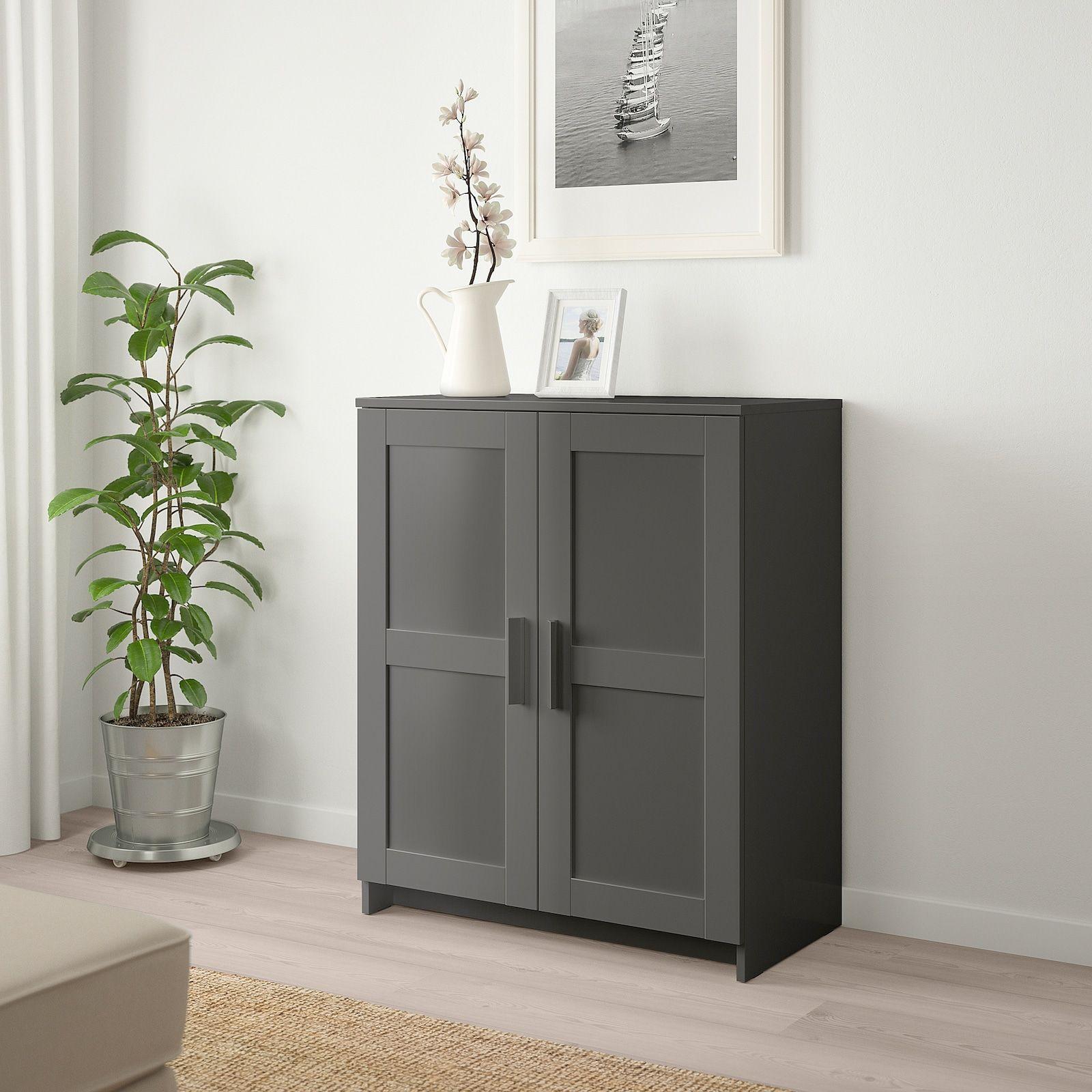 Brimnes Cabinet With Doors Gray 30 3 4x37 3 8 Ikea In 2021 Brimnes Cabinet Custom Cabinet Doors Brimnes Cabinet With Doors Small storage cabinet with doors