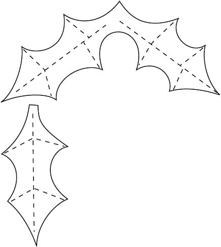 Holly Leaves Template