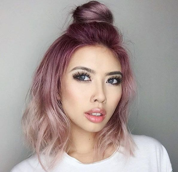 Dark Pink To Light Ombre By Linh Phan Short Hair Styles Light Pink Hair Hair Styles