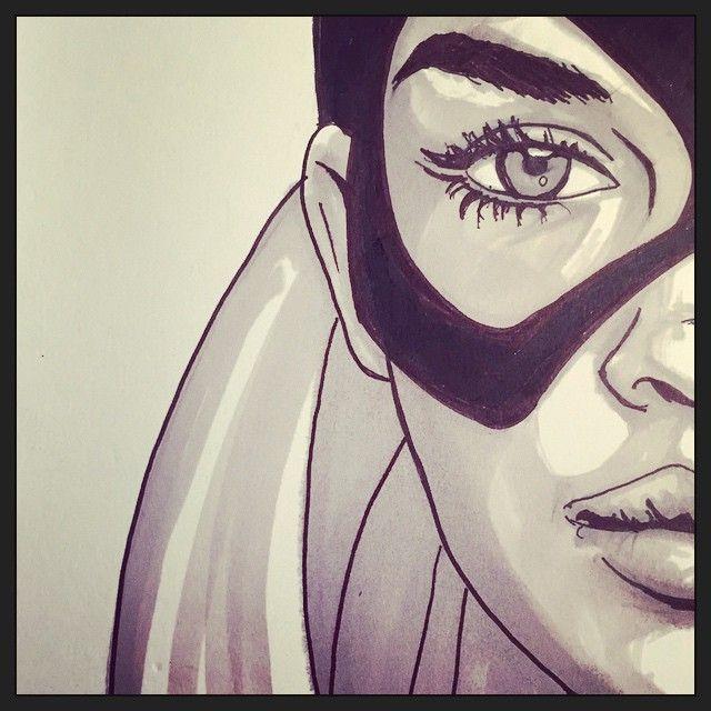#batgirl #sketch #markers #tasook