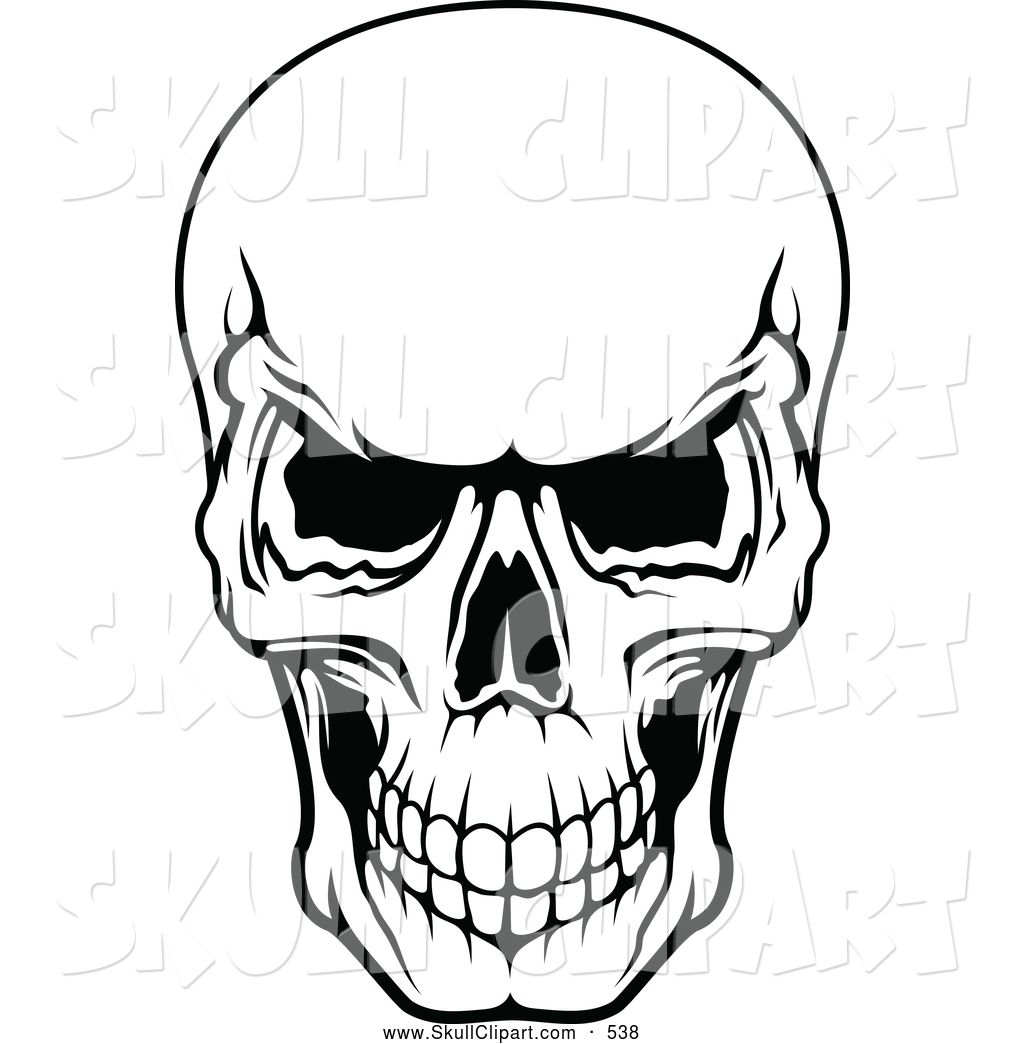scary scull Clip Art | Vector Clip Art of a Frightening ...