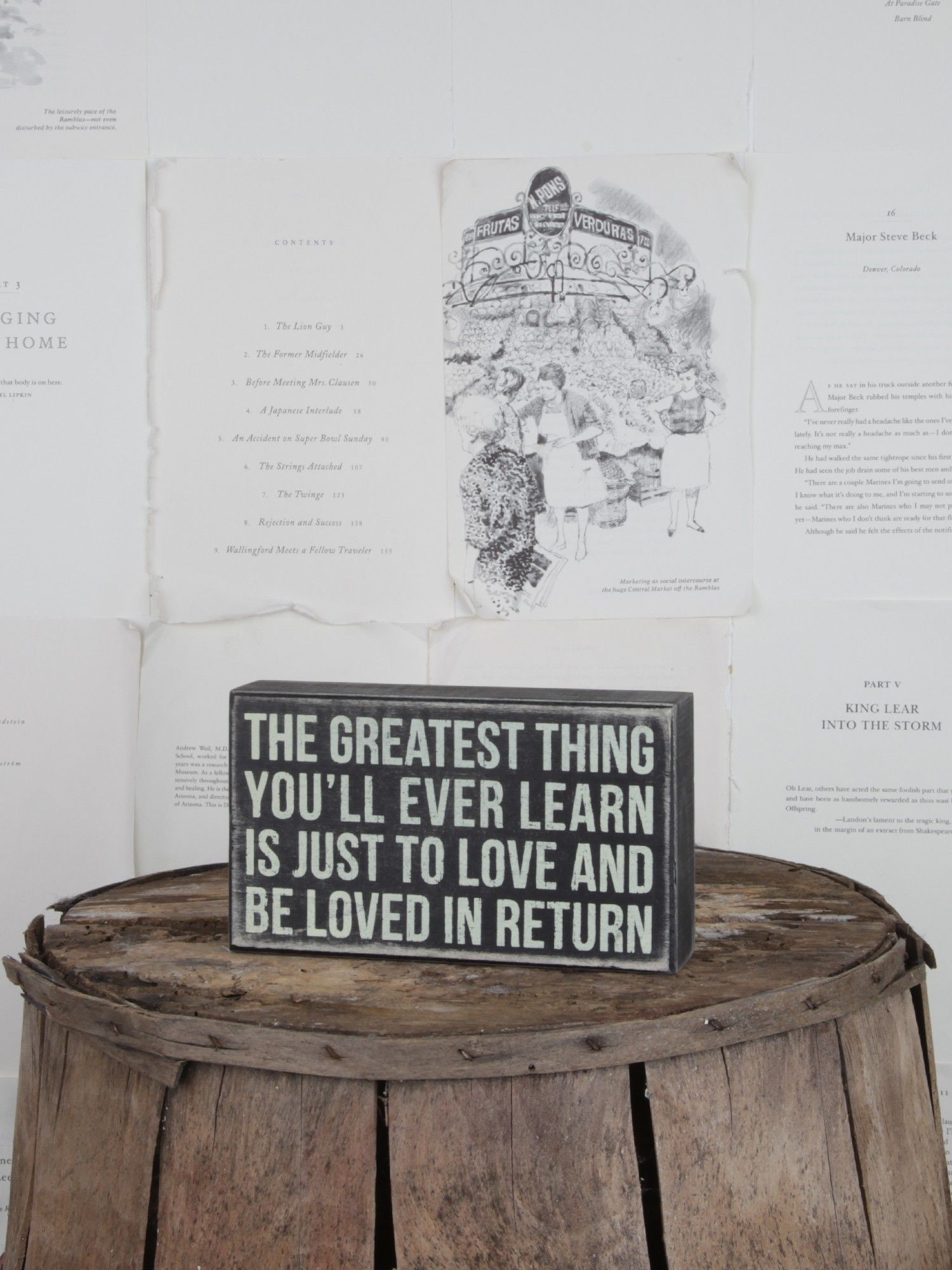 Wedding Gifts. The Greatest Thing you'll ever learn is just to love and be loved in return.