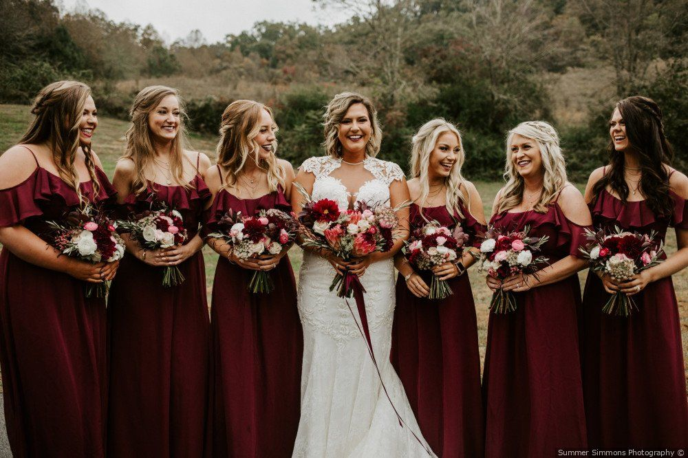 Off The Shoulder Wine Red Bridesmaid Dress Bridesmaid Dresses Summer Simmons Wine Red Bridesmaid Dresses Fall Bridesmaid Dresses Wine Bridesmaid Dress Long