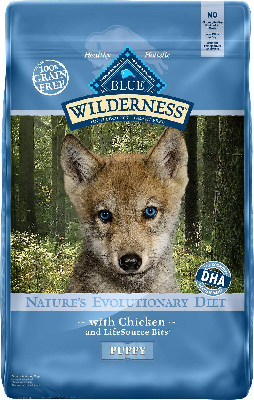 Dog Food 66780 Blue Buffalo Wilderness Puppy Chicken Recipe Grain