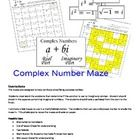 Complex Number Imaginary Maze Review Worksheet With Images