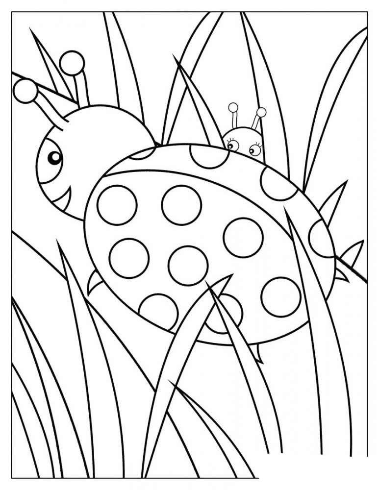 Dibujos de mariquitas para colorear y pintar. Imprimir dibujos de ...