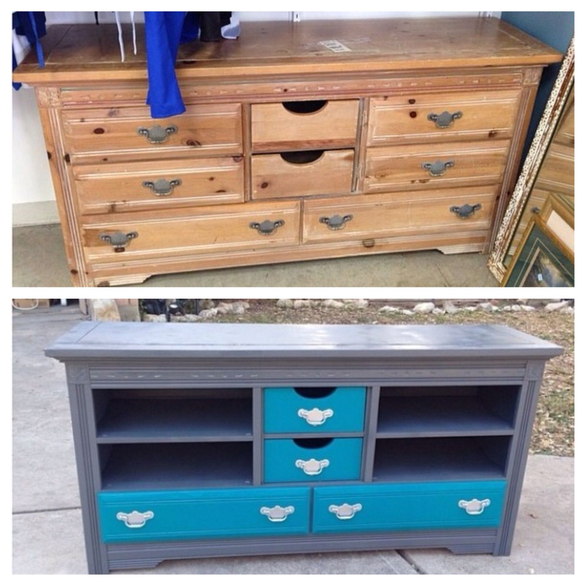 I Turned A Cheap Old Goodwill Dresser Into An Awesome