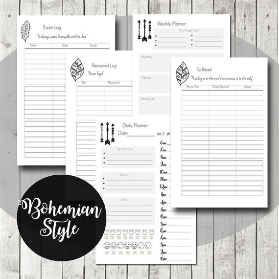 college planner student planner printable motivational quotes 2016 2017 academic planner back to school gift student gift pdf