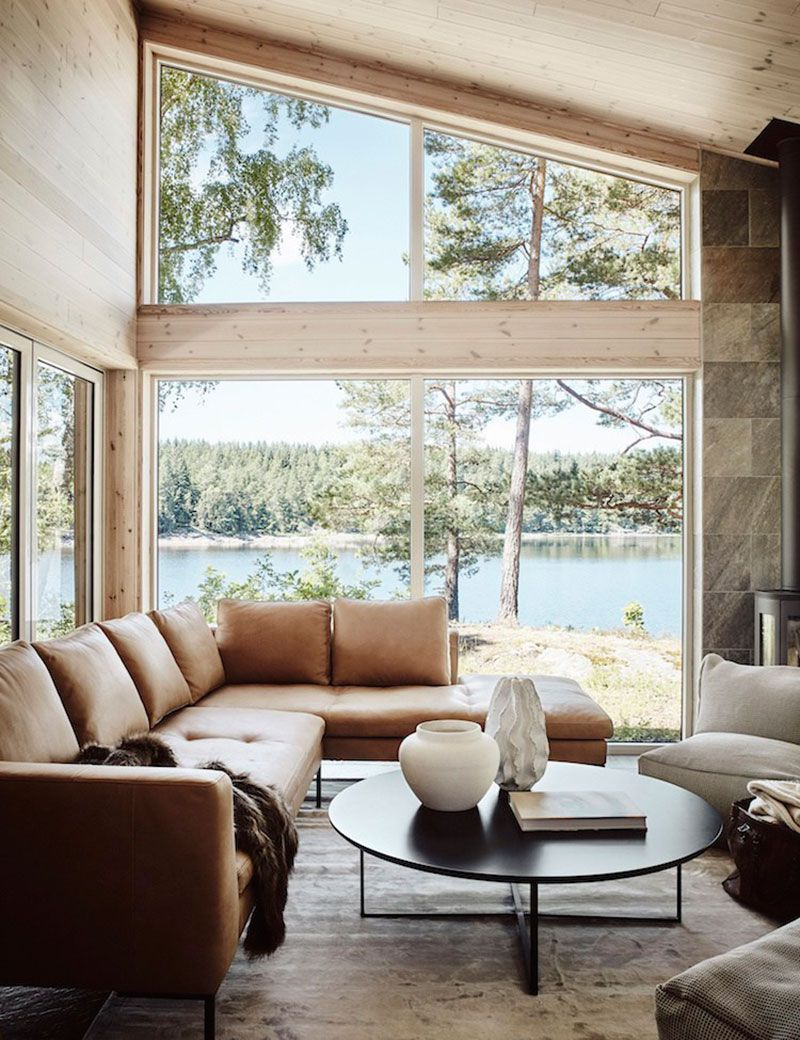 Cozy Swedish House Overlooking The Lake Photos Ideas Design Lake House Interior Scandinavian Home Modern Lake House