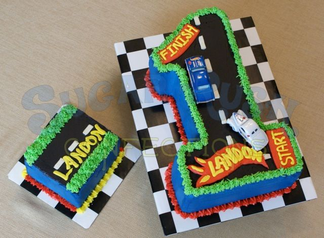 Swell Race Car First Birthday Cake With Images Race Car Cakes Race Funny Birthday Cards Online Hendilapandamsfinfo