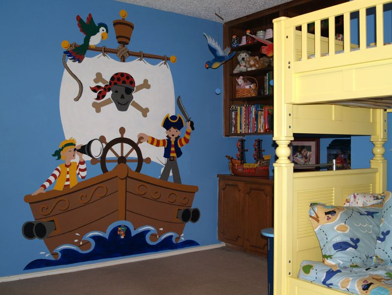 Kristen wanted a Neverland theme for her two daughters so she paired this up with Peter Pan and Tinkerbell posters.
