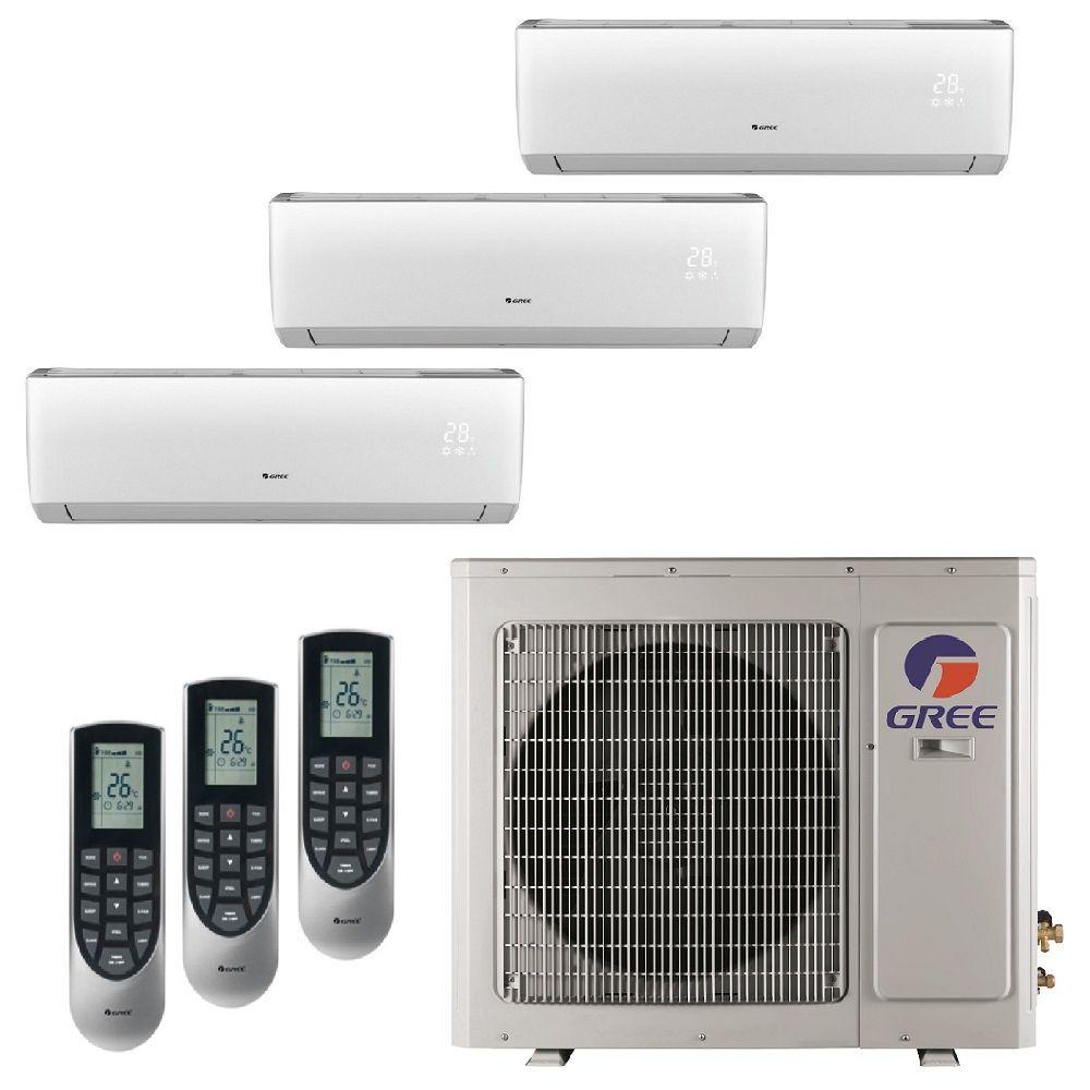 Gree Multi 21 Zone 26000 Btu Ductless Mini Split Air Conditioner With Heat Inverter And Remote 230 Volt Multi24hp301 Ductless Mini Split Ductless Air Conditioner