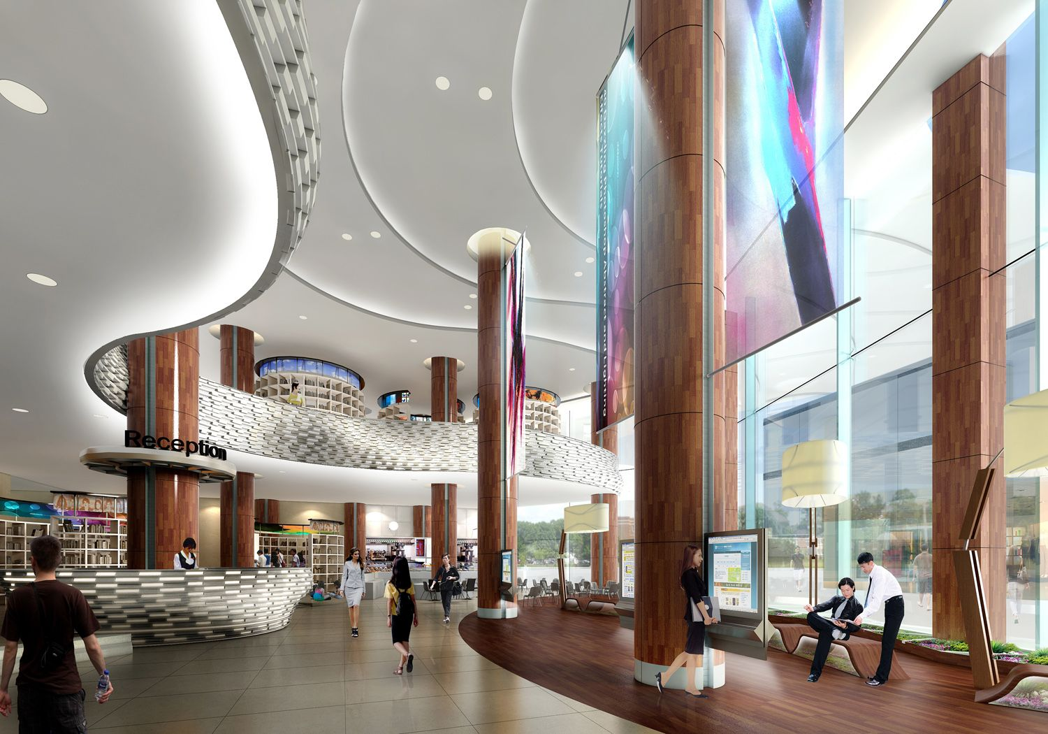 Awesome 3d Interior Renderings: 3D Interior Rendering \ Tampines Regional Library. This Is