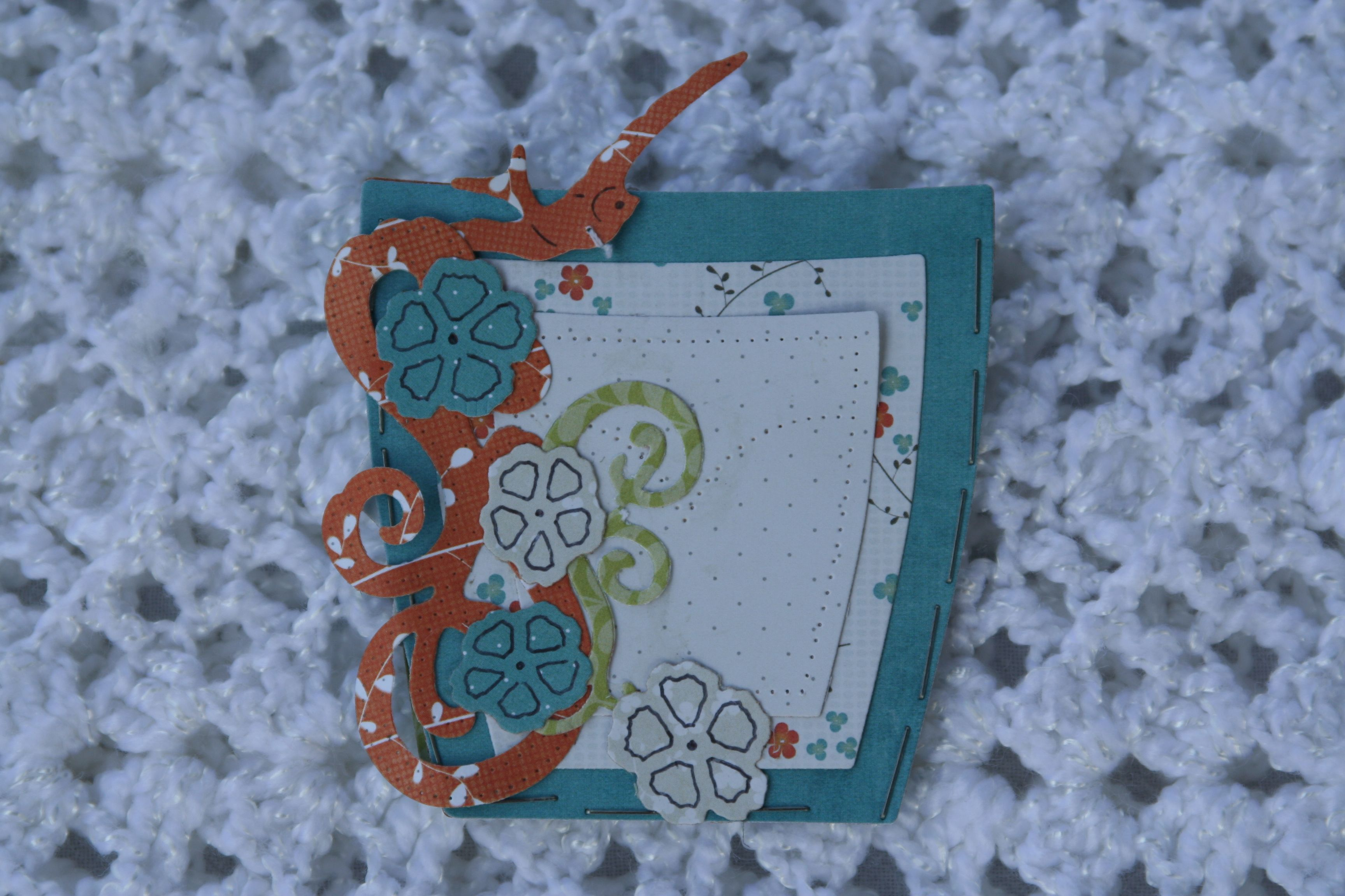 Spellbinders Pockets and Swirls Card Idea. Also used 6x6 paper pad On the Bright Side.