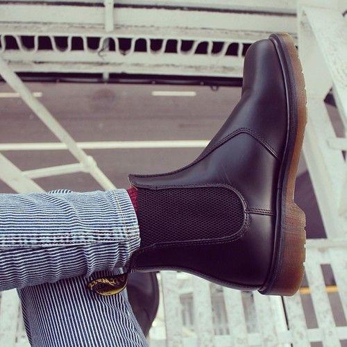 pants fur grey dr mertens martens DrMartens leather caoutchou stripes red  bleu navy brown boots booties d33a5bce1d