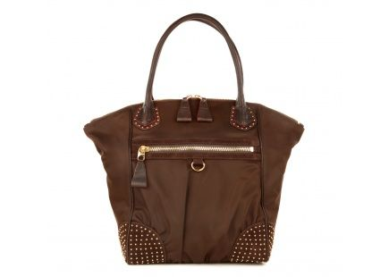 New arrival! @MZWallace Mimi in Chocolate Bedford with Studs #handbags