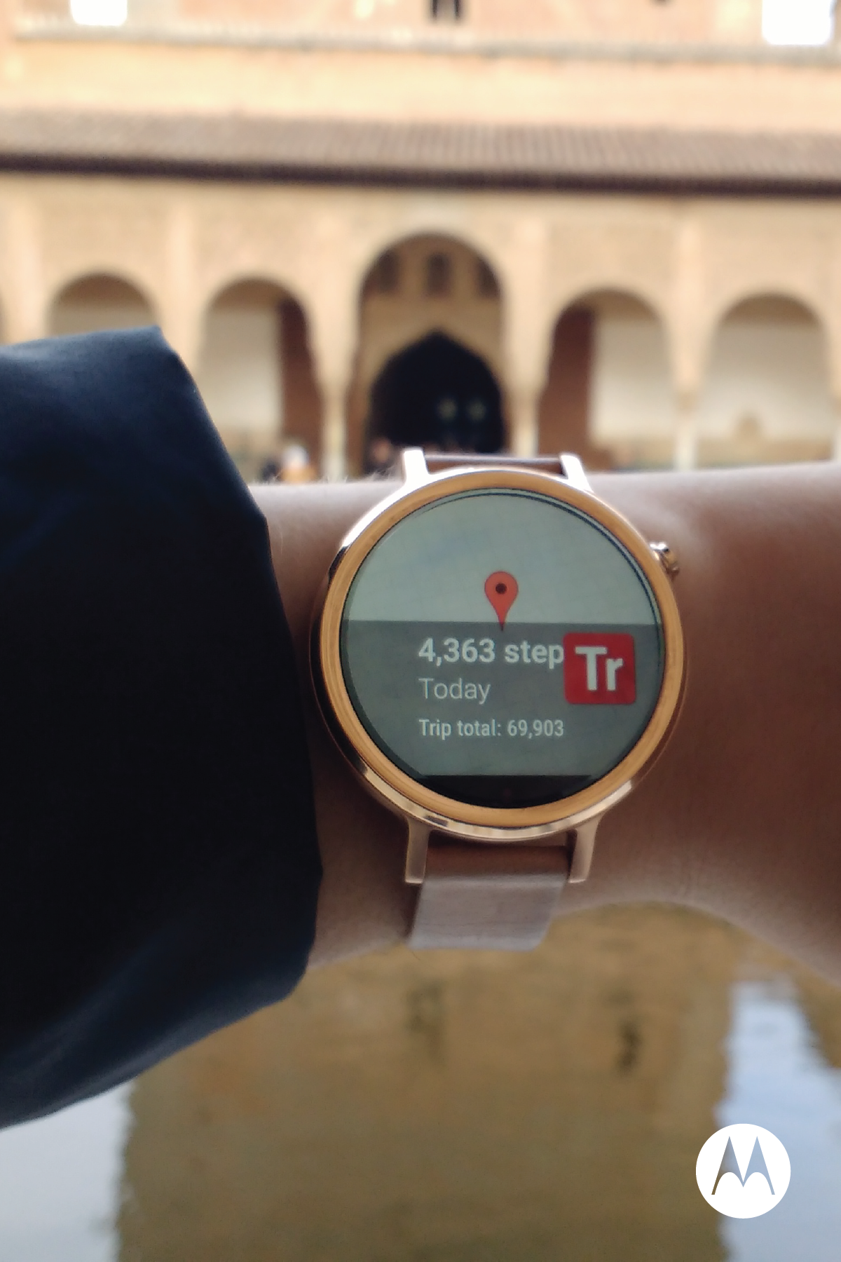 Take the Moto 360 watch along on your next adventure and