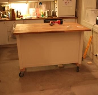 Kitchen Island On Wheels Add Casters