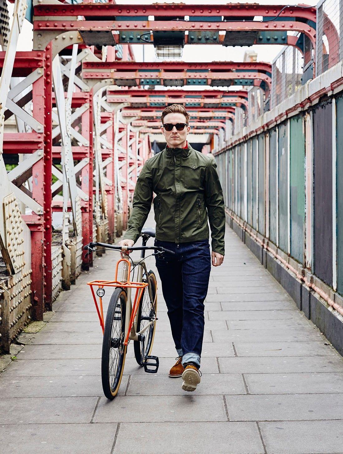 Vulpine Men S Urban Cycling Jeans In Indigo Street Art