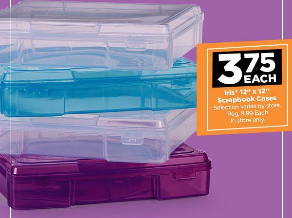 Scrapbooking Organization Iris 12x12 Cases On Sale At Michaels