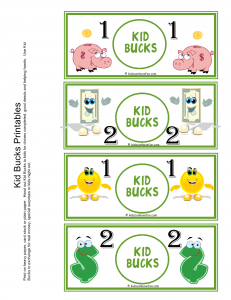 photograph about Printable Reward Bucks named Advantage Dollars, Printable Pleasurable Income Summer months tasks Small children