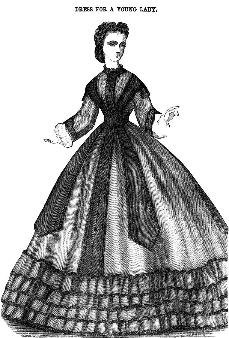 1864 - dress for a young lady