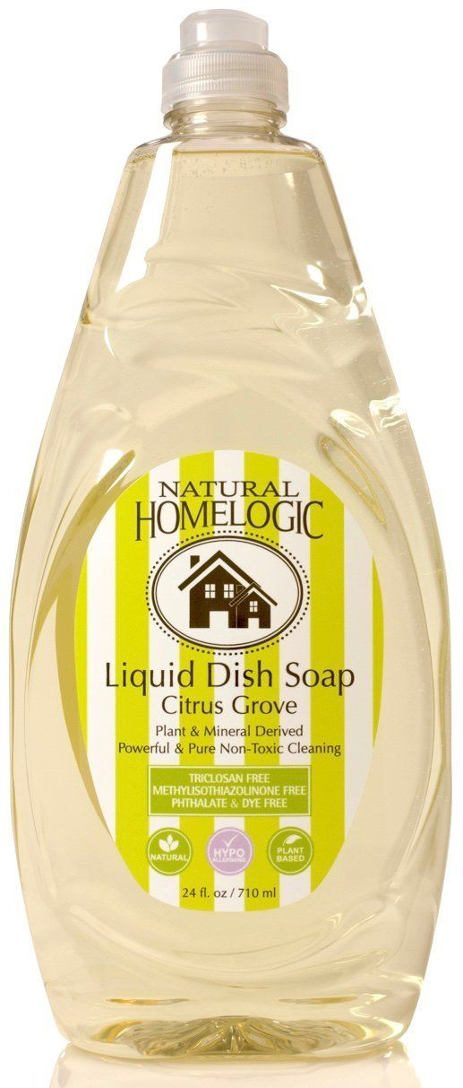 Amazon Com Natural Homelogic Eco Friendly Liquid Dish Soap 24 Oz Citrus Grove Powerful Pure Non Toxic Cleaning Plant Mineral D Pet Designs Pure