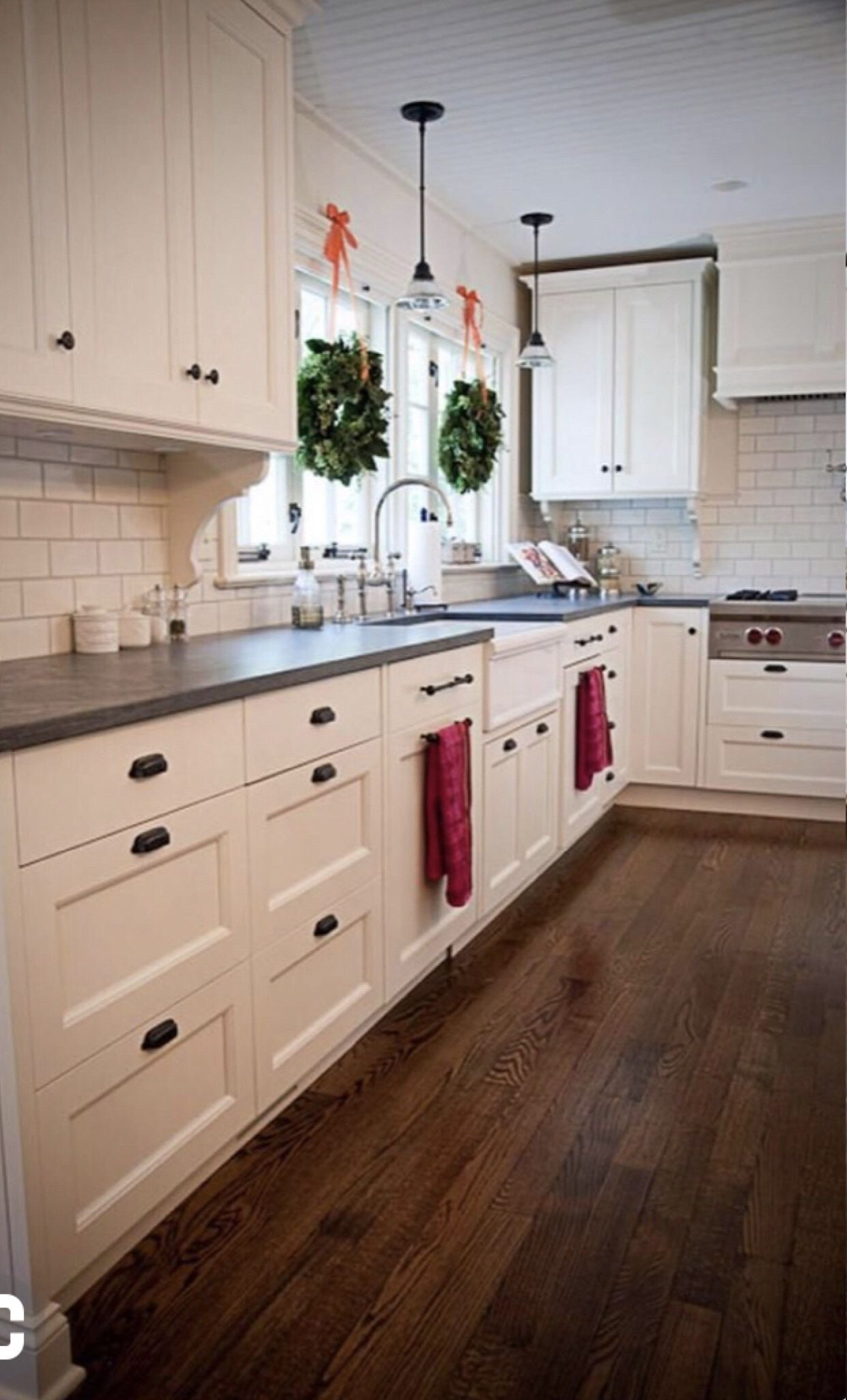 No Uppers Just Windows Along Sink Cabinet Wall Range Hood Another 2ish Feet Down To Add Mo Kitchen Cabinets Decor White Shaker Kitchen New Kitchen Cabinets
