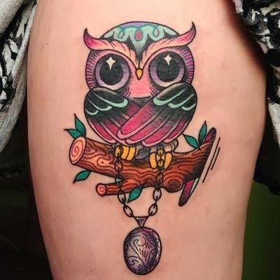 owl book tattoo | Owl tattoos: