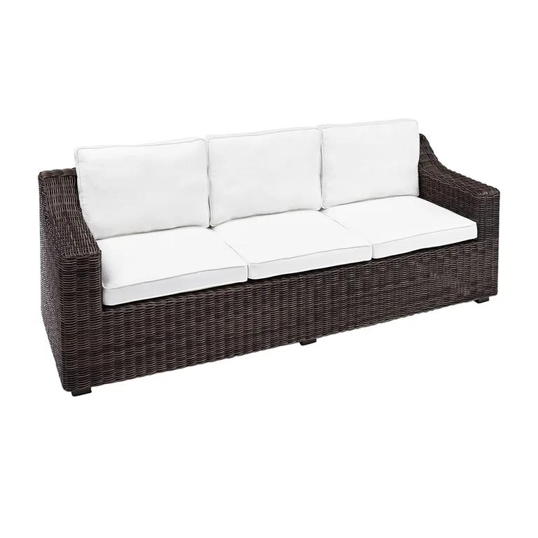 Coral Bay Java Wicker Sofa With Cushions Wicker Sofa Sofa Cushions