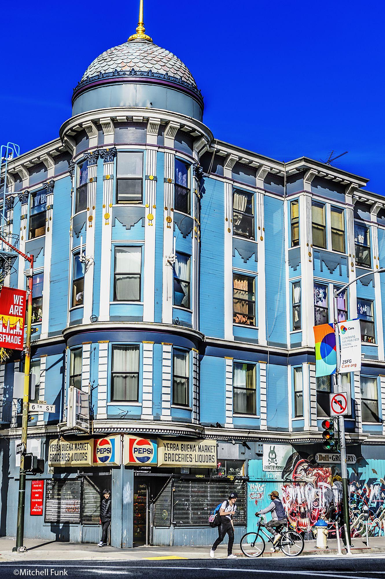 Beautiful Victorian Architecture In The Tenderloin San Francisco