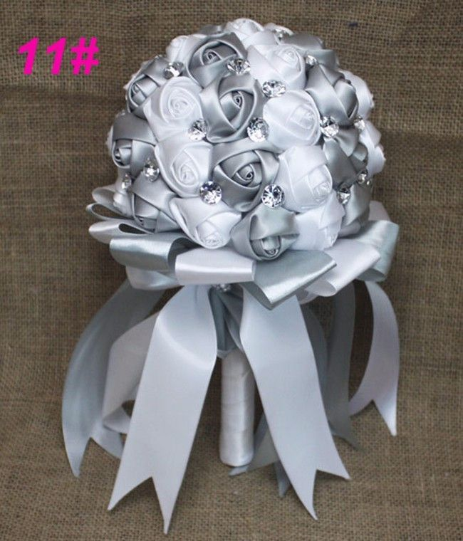 Silk Wedding Bridesmaids Bridal Bouquets Wedding Bouquet