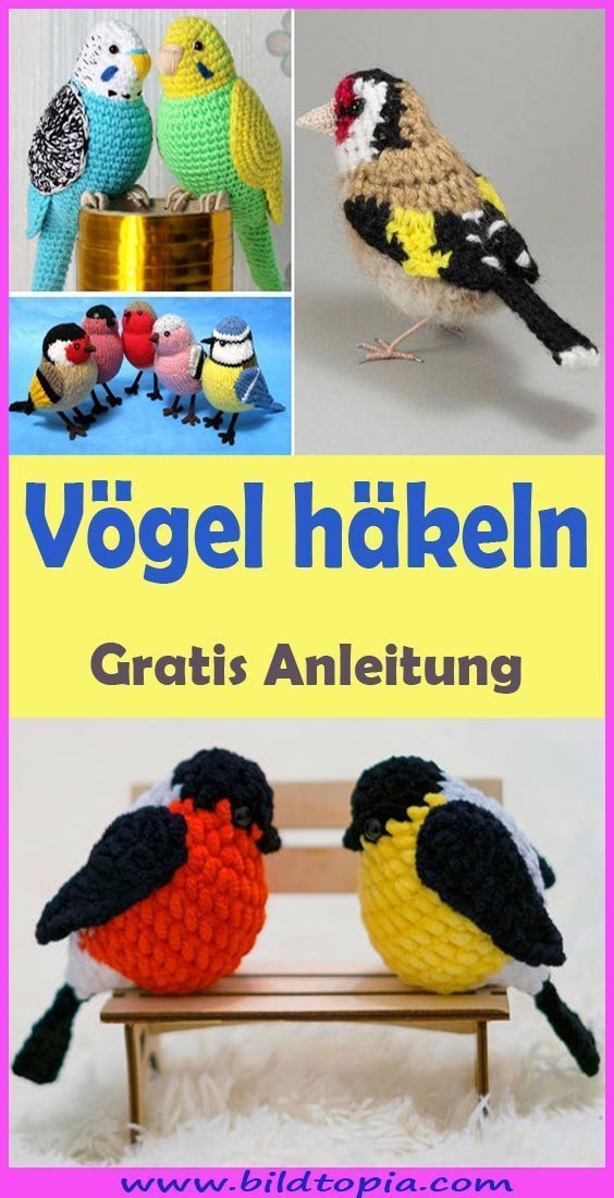 Crochet Amigurumi Birds – Patron gratuit et facile – Idées de petits balcons Points de crochet …   – Diy decoracion dormitorio / Diy decoracion ideas