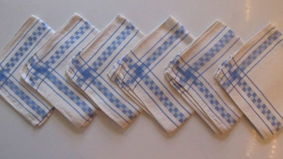 Vintage French Laundry / Linen Napkins /  by VandyleeVintage, $48.00