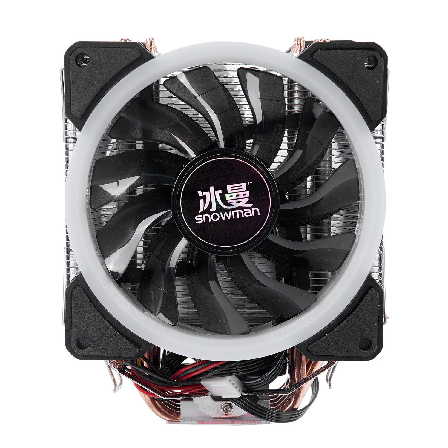 Snowman 4pin Cpu Cooler 6 Heatpipe Rgb Led Double Fans