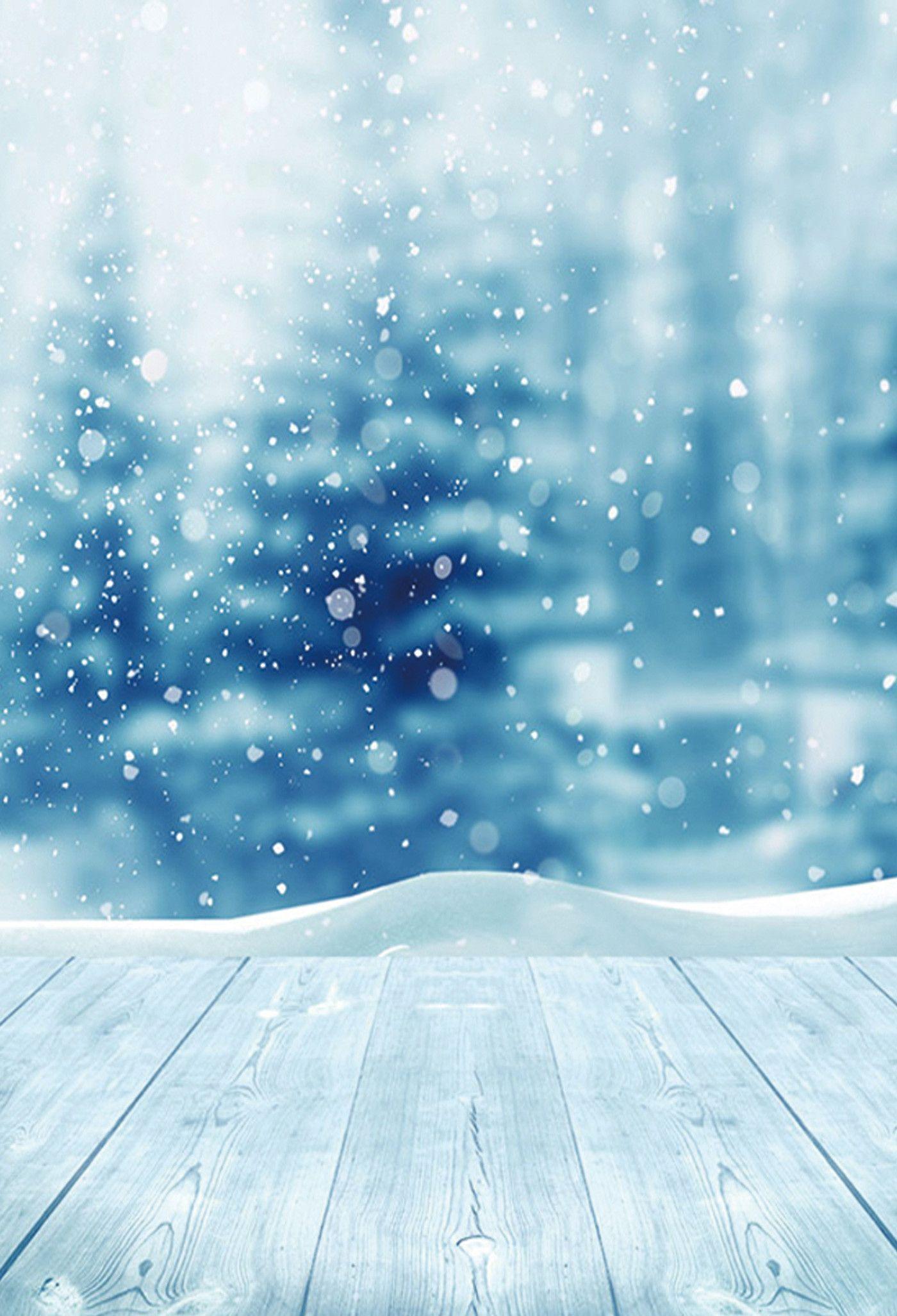 Season Backdrop Winter Background Snowflake Backdrop Snow