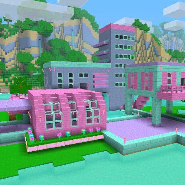 Minecraft Wool City. Girly Minecraft Worlds