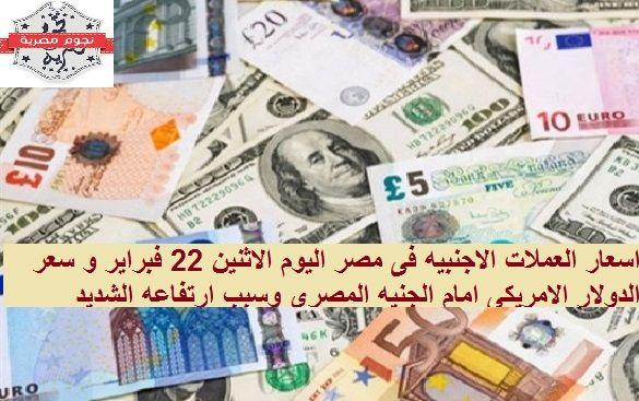 أسعار العملات في مصر اليوم الاثنين 22 فبراير وسعر الدولار الامريكى امام الجنيه المصري واخر التغيرات 10 Things Euro