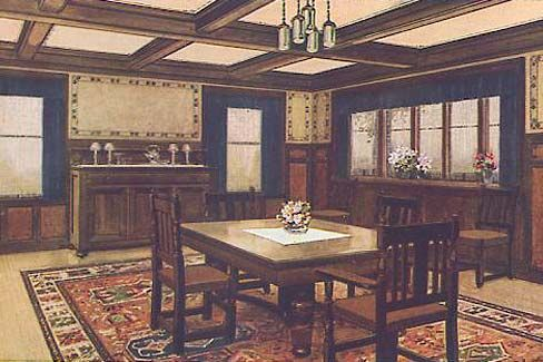 Arts Crafts Bungalow Diningroom From Sherwin Williams Paint And