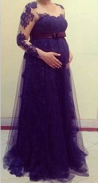234fe5f5736eb LONG SLEEVE MATERNITY DRESS - Mansene Ferele   hamile pregnant ...