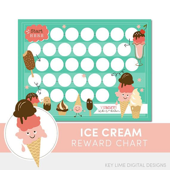 Ice cream reward chart printable instant download by keylimedd also kids chore for incentive rh pinterest