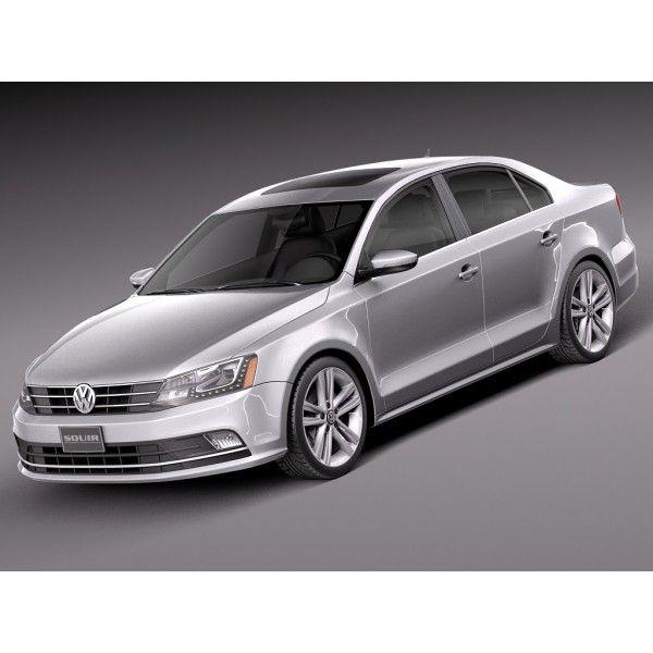 Volkswagen 2015 Jetta: Volkswagen Jetta 2015 - 3D Model