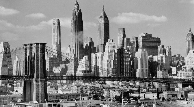 Andreas feininger: brooklyn bridge und die skyline von manhattan