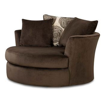 Stupendous Albany Groovy Chocolate Brown Padded Microfiber Swivel Chair Pdpeps Interior Chair Design Pdpepsorg