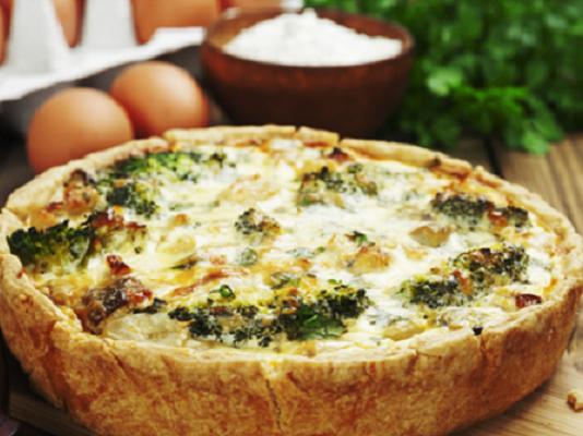 Открытый пирог «Киш лорен» с курицей и грибами рецепт с