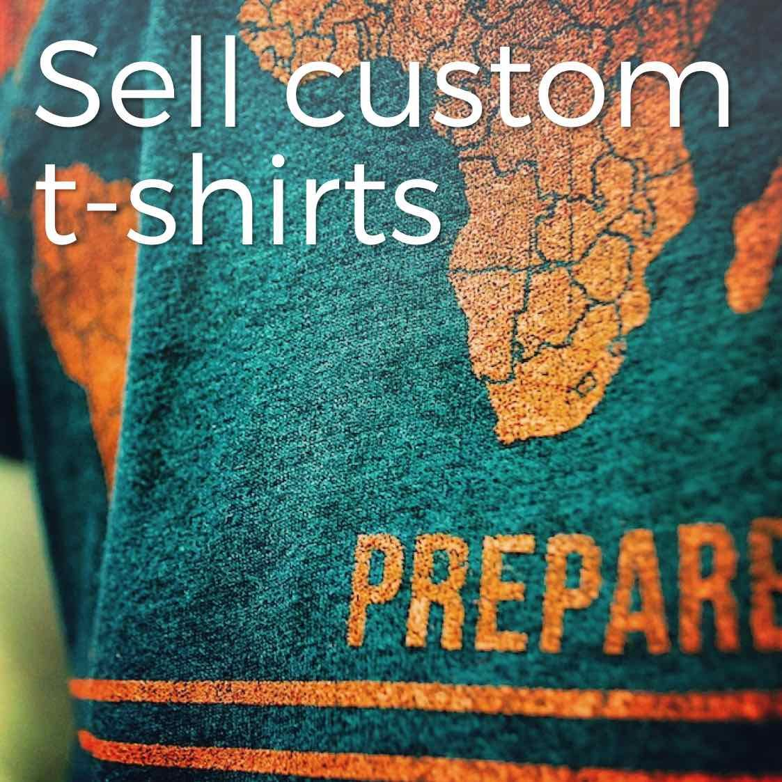 How to sell custom t shirts to raise support for your for Sell t shirts for charity